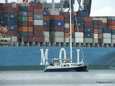 MOL CONTINUITY Departing Southampton PDM 16-07-2014 15-51-36