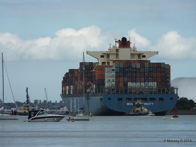 MOL CONTINUITY Departing Southampton PDM 16-07-2014 15-59-39