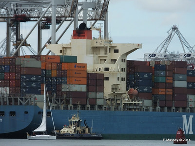 MOL CONTINUITY Departing Southampton PDM 16-07-2014 15-44-31