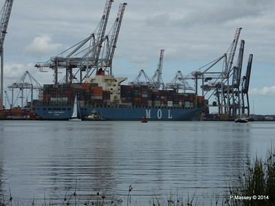MOL CONTINUITY Departing Southampton PDM 16-07-2014 15-44-21