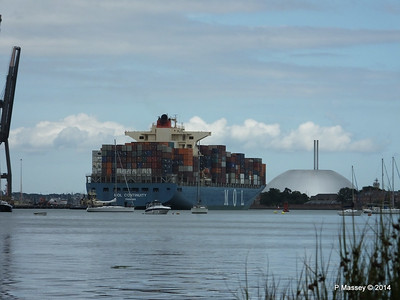 MOL CONTINUITY Departing Southampton PDM 16-07-2014 15-57-44