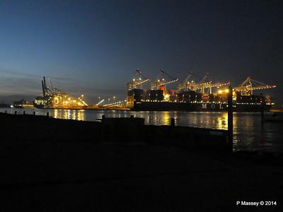SEOUL EXPRESS APL TEMASEK MOL QUINTET Southampton Night PDM 31-10-2014 17-29-21
