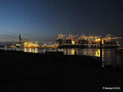 SEOUL EXPRESS APL TEMASEK MOL QUINTET Southampton Night PDM 31-10-2014 17-29-17