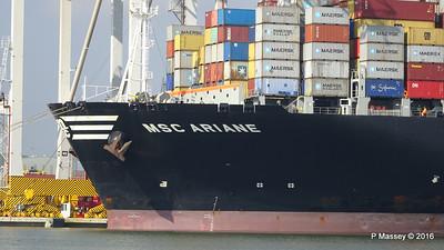 MSC ARIANE Southampton PDM 11-03-2016 12-16-16