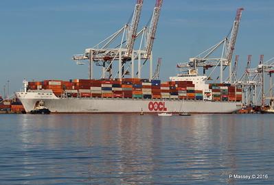 OOCL SOUTHAMPTON Departing Southampton PDM 26-08-2016 19-06-30