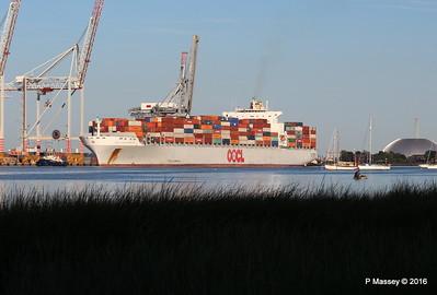 OOCL SOUTHAMPTON Departing Southampton PDM 26-08-2016 19-23-03