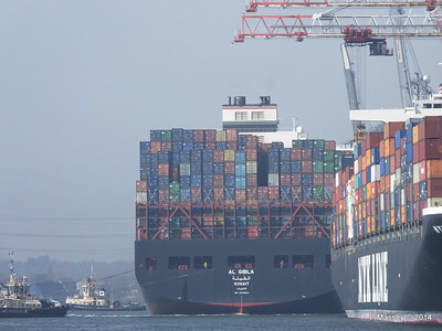 AL QIBLA moving out from astern NYK ORION Southampton PDM 08-03-2014 12-47-04