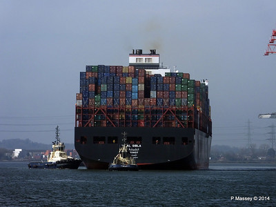 AL QIBLA Departing Southampton PDM 08-03-2014 12-52-20