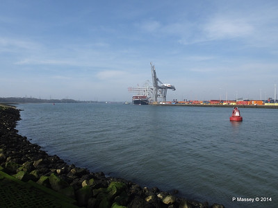 AL QIBLA moving out from astern NYK ORION Southampton PDM 08-03-2014 12-33-52