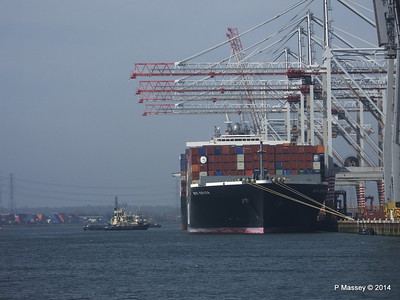 AL QIBLA moving out from astern NYK ORION Southampton PDM 08-03-2014 12-31-47