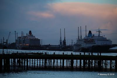 QUEEN ELIZABETH SAGA SAPPHIRE over Royal Pier Southampton PDM 10-01-2016 08-31-26