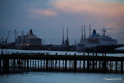QUEEN ELIZABETH SAGA SAPPHIRE over Royal Pier Southampton PDM 10-01-2016 08-31-28