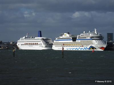 31 Mar 2015 ORIANA & AIDAmar Southampton