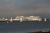 sys AIDAprima over Town Quay Southampton PDM 27-04-2016 19-04-58