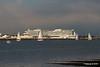 sys AIDAprima over Town Quay Southampton PDM 27-04-2016 19-05-02