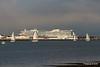 sys AIDAprima over Town Quay Southampton PDM 27-04-2016 19-05-00