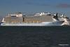 ANTHEM OF THE SEAS Maiden Voyage Passing EXPLORER OF THE SEAS Southampton PDM 22-04-2015 17-35-17