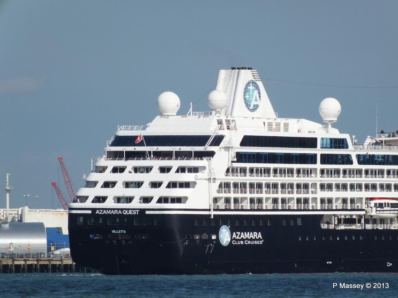 AZAMARA QUEST Departs Southampton PDM 10-06-2013 17-08-07