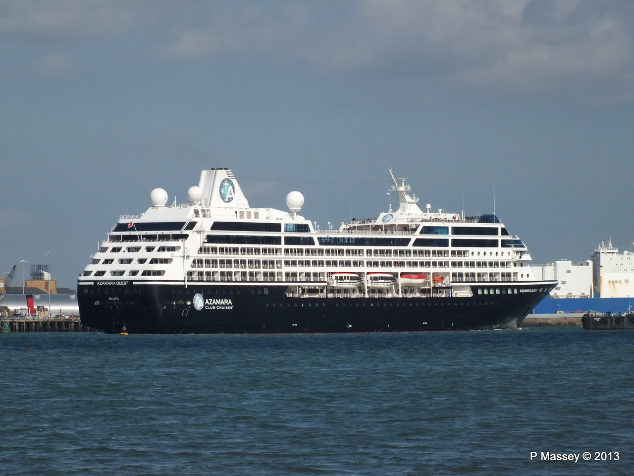 AZAMARA QUEST Departs Southampton PDM 10-06-2013 17-07-45