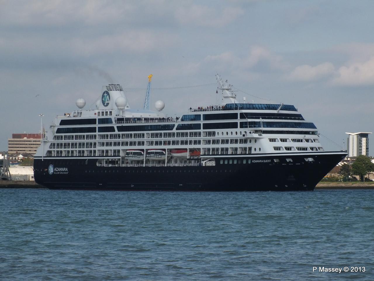 AZAMARA QUEST Departs Southampton PDM 10-06-2013 17-03-04