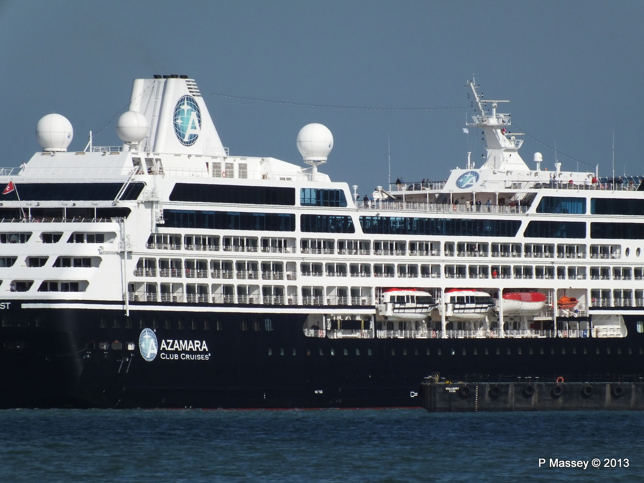 AZAMARA QUEST Departs Southampton PDM 10-06-2013 17-08-12
