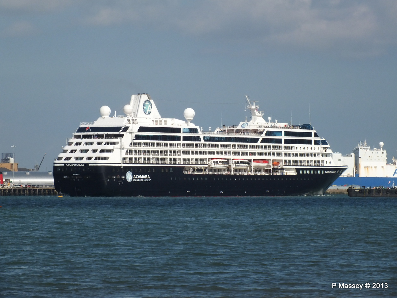 AZAMARA QUEST Departs Southampton PDM 10-06-2013 17-07-49