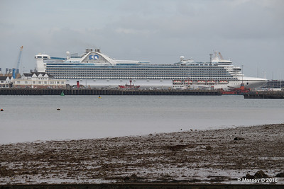 CARIBBEAN PRINCESS Over Town Quay Southampton PDM 20-05-2016 17-13-10