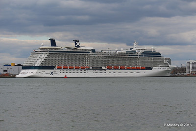 23 Apr 2016 CELEBRITY SILHOUETTE Alongside Southampton