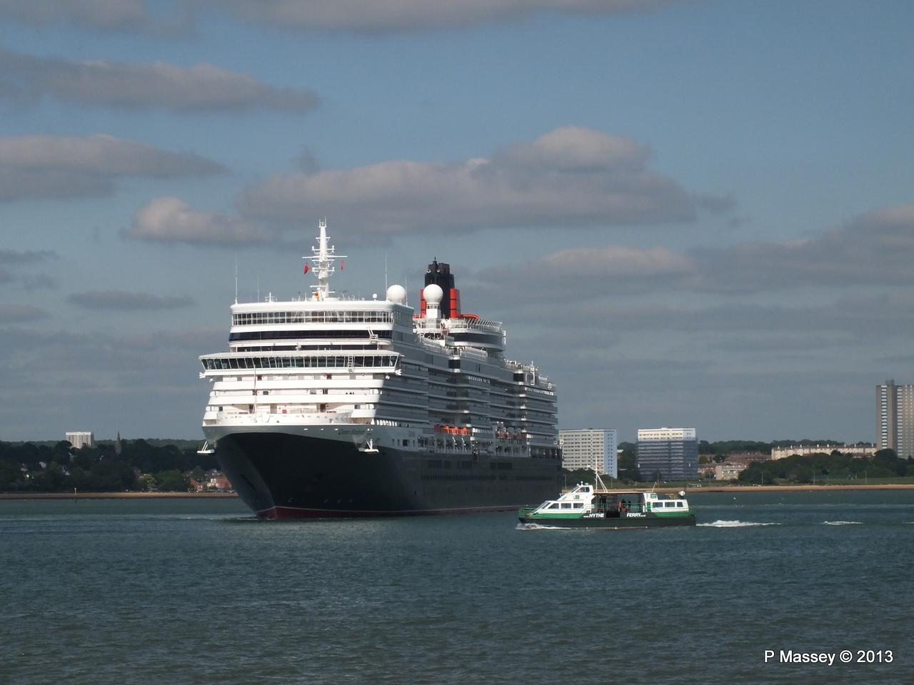QUEEN ELIZABETH Departs Southampton PDM 09-06-2013 16-53-12