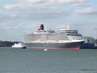 QUEEN ELIZABETH Departing Southampton OCEAN SCENE PDM 10-08-2013 17-49-02