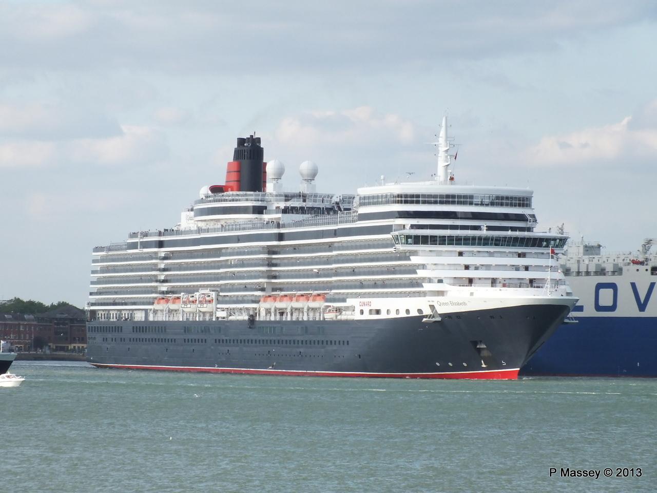 QUEEN ELIZABETH Departing Southampton OCEAN SCENE PDM 10-08-2013 17-48-30