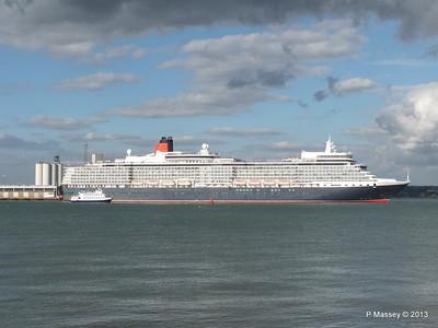 QUEEN ELIZABETH Departing Southampton OCEAN SCENE PDM 10-08-2013 17-52-17