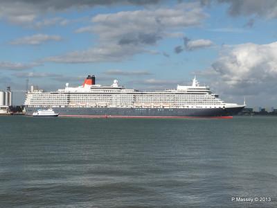 QUEEN ELIZABETH Departing Southampton OCEAN SCENE PDM 10-08-2013 17-52-25