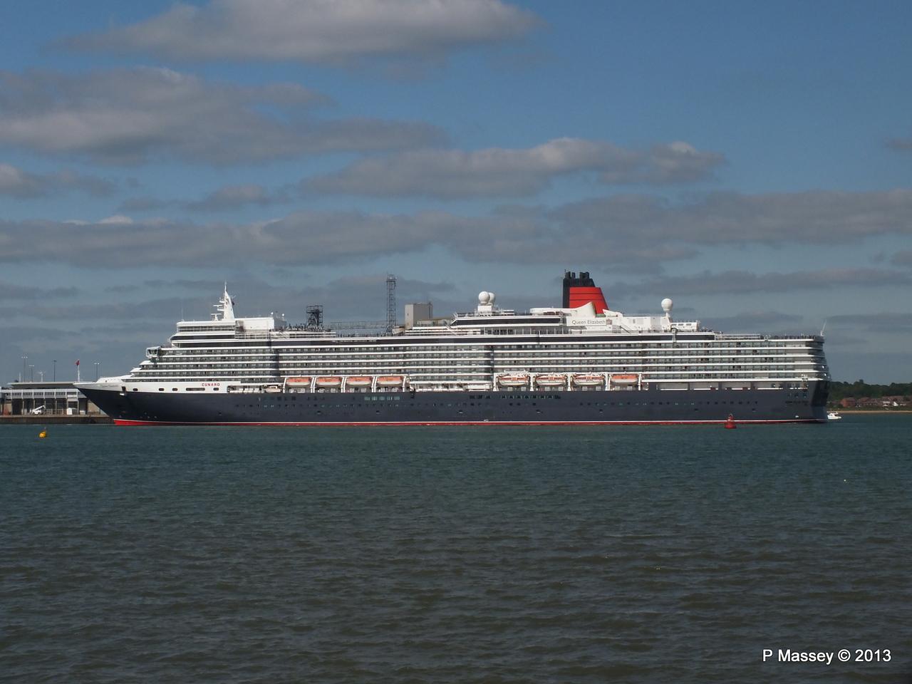QUEEN ELIZABETH Departs Southampton PDM 09-06-2013 16-47-13