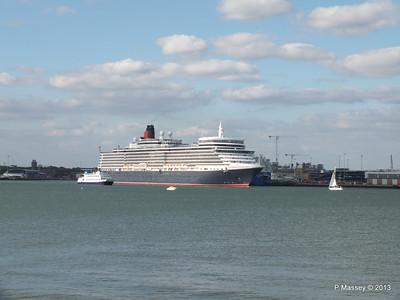 QUEEN ELIZABETH Departing Southampton OCEAN SCENE PDM 10-08-2013 17-49-08