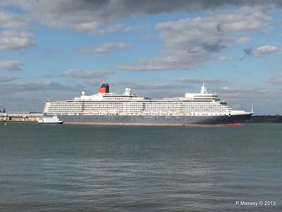 QUEEN ELIZABETH Departing Southampton OCEAN SCENE PDM 10-08-2013 17-51-49