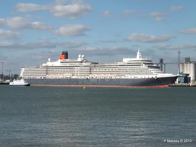 QUEEN ELIZABETH Departing Southampton OCEAN SCENE PDM 10-08-2013 17-50-46