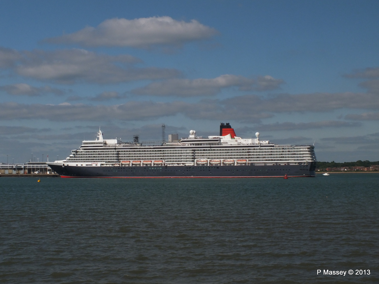 QUEEN ELIZABETH Departs Southampton PDM 09-06-2013 16-47-08