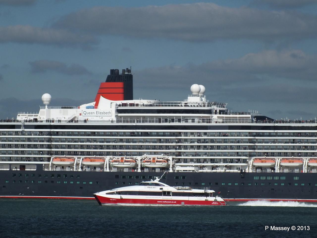 QUEEN ELIZABETH Departs Southampton PDM 09-06-2013 16-56-10
