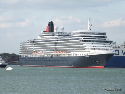 QUEEN ELIZABETH Departing Southampton OCEAN SCENE PDM 10-08-2013 17-48-32