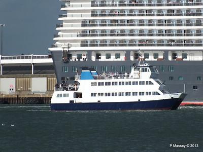 QUEEN ELIZABETH Departing Southampton OCEAN SCENE PDM 10-08-2013 17-52-02