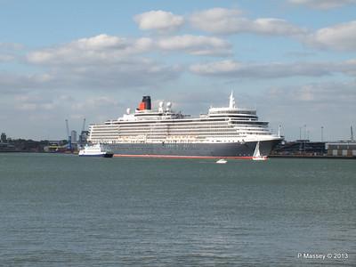 QUEEN ELIZABETH Departing Southampton OCEAN SCENE PDM 10-08-2013 17-49-27