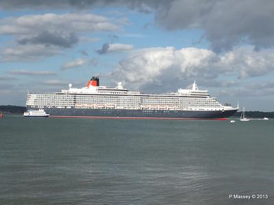 QUEEN ELIZABETH Departing Southampton OCEAN SCENE PDM 10-08-2013 17-53-35