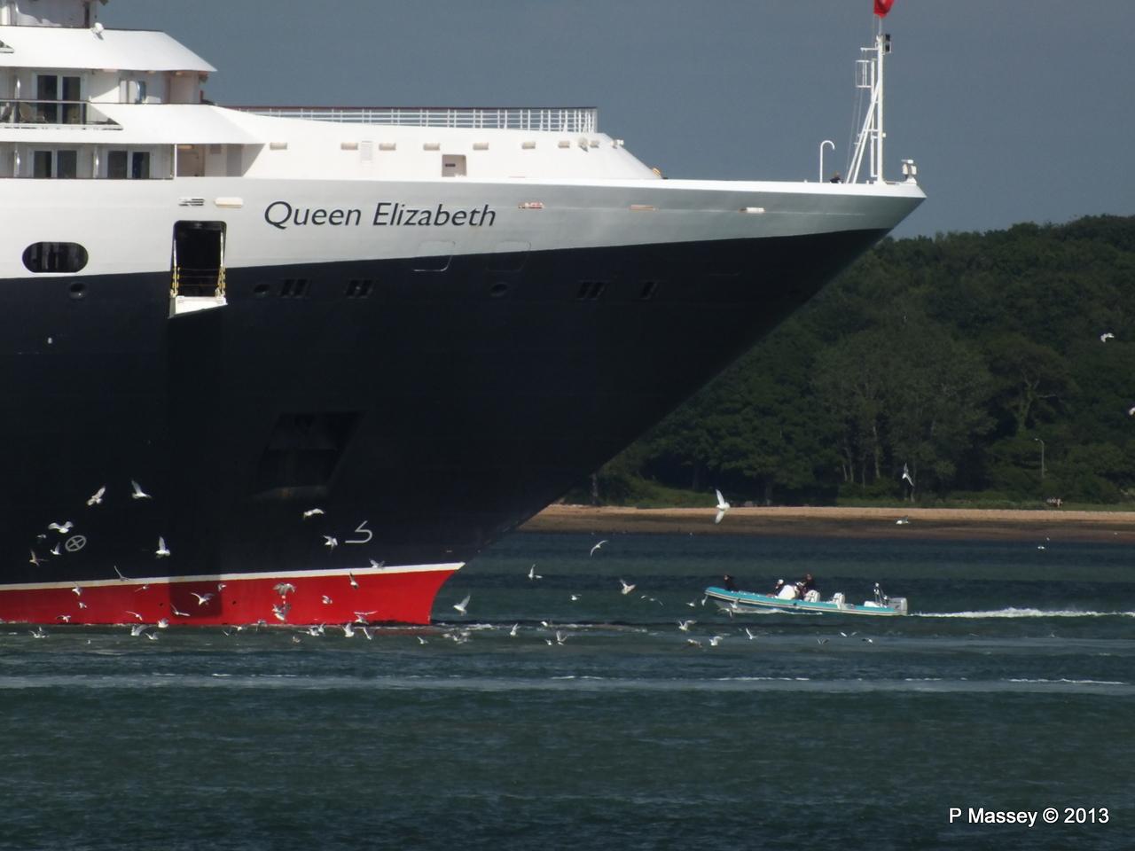 QUEEN ELIZABETH Departs Southampton PDM 09-06-2013 16-56-39