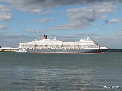 QUEEN ELIZABETH Departing Southampton OCEAN SCENE PDM 10-08-2013 17-51-51