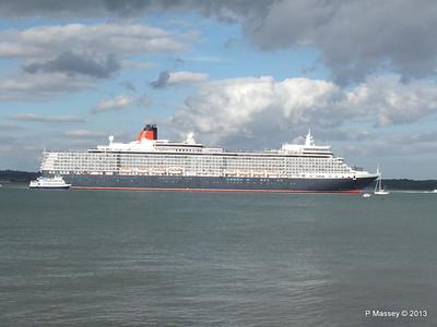 QUEEN ELIZABETH Departing Southampton OCEAN SCENE PDM 10-08-2013 17-53-37