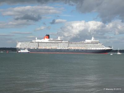 QUEEN ELIZABETH Departing Southampton OCEAN SCENE PDM 10-08-2013 17-53-31