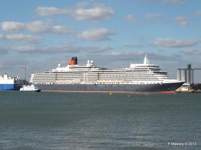 QUEEN ELIZABETH Departing Southampton OCEAN SCENE PDM 10-08-2013 17-50-37