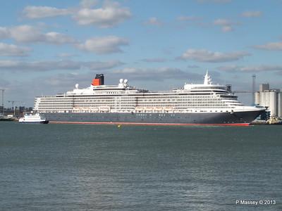 QUEEN ELIZABETH Departing Southampton OCEAN SCENE PDM 10-08-2013 17-50-50