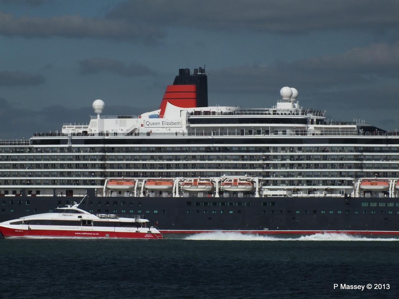 QUEEN ELIZABETH Departs Southampton PDM 09-06-2013 16-56-12